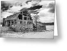 Castile Barn Revisited Greeting Card