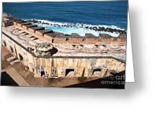 Castillo De San Cristobal San Juan Puerto Rico Greeting Card