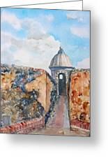 Castillo De San Cristobal Sentry Door Greeting Card