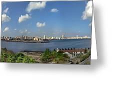 Castillo El Morro Havana Cuba Skyline Greeting Card
