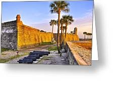Castillo Sunrise Greeting Card