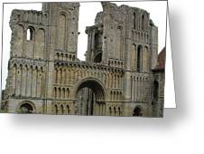Castle Acre Abbey Greeting Card