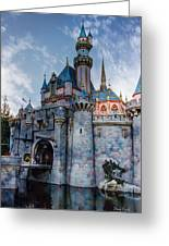 Castle And Clouds Greeting Card
