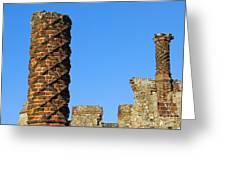 Castle Brickwork Greeting Card