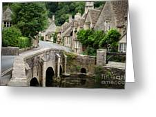 Castle Combe Cotswolds Village Greeting Card