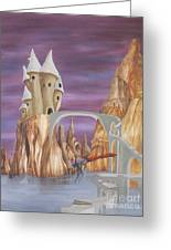 Castle Dragonfly Greeting Card
