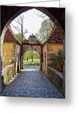 Castle Gate Rothenburg Ob Der Tauber Greeting Card