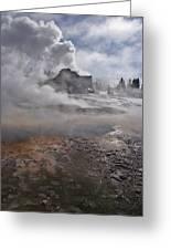 Castle Geyser In Winter Greeting Card