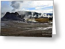 Castle Geyser In Yellowstone National Park Greeting Card