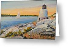 Castle Hill Light House Newport Ri Greeting Card