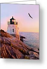 Castle Hill Lighthouse 2 Newport Greeting Card