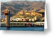 Castle In Almeria Spain Greeting Card