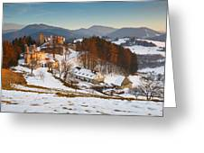 castle in northen Slovakia Greeting Card