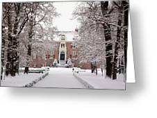 Castle In Winter Dress  Greeting Card