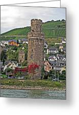 Castle Of The Rhine Greeting Card