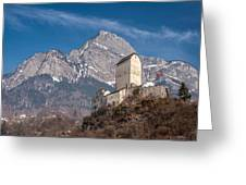 Castle On A Hill In Switzerland Greeting Card