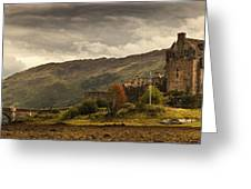 Castle On A Hill Kyle Of Lochalsh Greeting Card