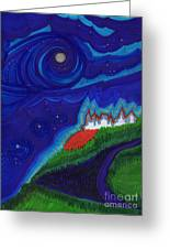Castle On The Cliff By Jrr Greeting Card