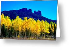Autumn Castle Rock Aspens Greeting Card