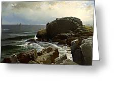 Castle Rock At Marblehead Greeting Card