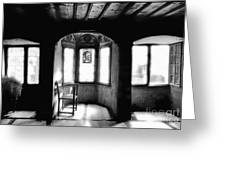 Castle Room With Chair Bw Greeting Card