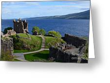 Castle Ruins On Loch Ness Greeting Card