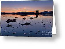 Loch Laich And Castle Stalker Greeting Card