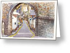 Castle Street Conwy North Wales Greeting Card