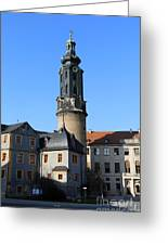 Castle Tower And Castle Weimar Greeting Card