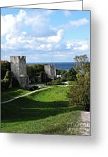 Castle Towers Greeting Card
