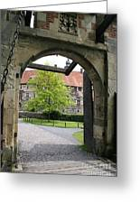 Castle Vischering Archway Greeting Card