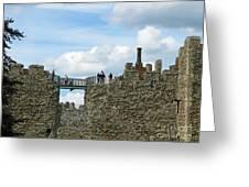 Castle Wall Walk Greeting Card
