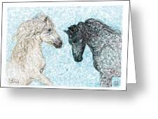 Castor And Pollux Greeting Card
