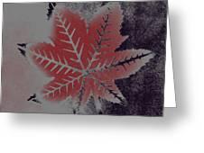 Castor Leaf Greeting Card