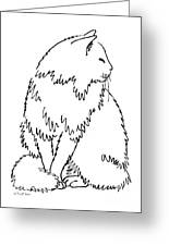Cat Drawings 1 Greeting Card