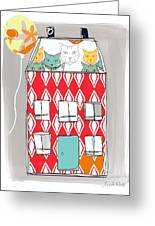 Cat House Greeting Card