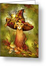 Cat In Fancy Witch Hat 3 Greeting Card