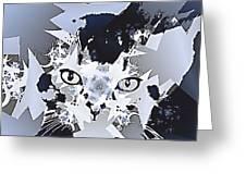 Cat In Fractaldesign Greeting Card