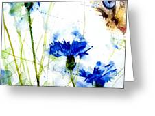 Cat In The Cornflowers Greeting Card by Paul Lovering
