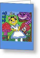 Cat In Wonderland Greeting Card