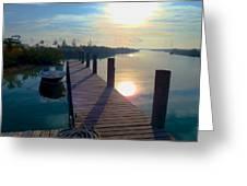 Cat Island Dock Greeting Card