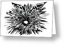 Cat Iwan Greeting Card