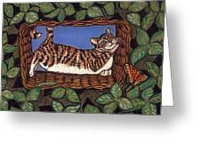 Cat Napping Greeting Card