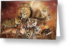 Cat Power Greeting Card