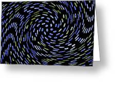 Cat Tail Swirl Greeting Card