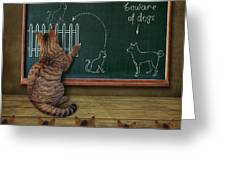 Cat Teacher And His Pupils... :) Greeting Card