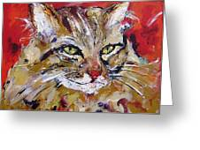 Feline Portrait  Greeting Card