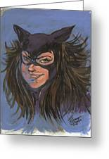 Cat Woman01 Greeting Card