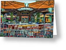 Catal Outdoor Cafe Downtown Disneyland 01 Greeting Card
