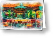 Catal Outdoor Cafe Downtown Disneyland Photo Art 01 Greeting Card